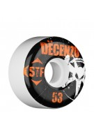 Bones Street Tech Formula Decenzo Rocker - 53mm - White - Skateboard Wheels
