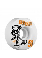 Bones STF Pro Decenzo Numbers - 51mm - White - Skateboard Wheels