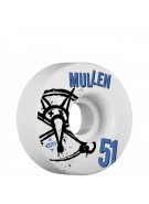 Bones STF Pro Mullen Numbers - 51mm - White - Skateboard Wheels