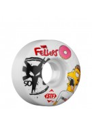 Bones Street Tech Formula Fellers Dohnuts - 50mm - White - Skateboard Wheels