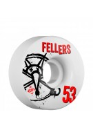 Bones STF Pro Fellers Numbers - 53mm - White - Skateboard Wheels