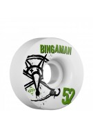 Bones STF Pro Bingaman Numbers - 52mm - White - Skateboard Wheels