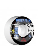 Bones Street Tech Formula Bingaman Vices - 51mm - White - Skateboard Wheels