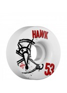 Bones STF Pro Hawk Numbers - 53mm - White - Skateboard Wheels