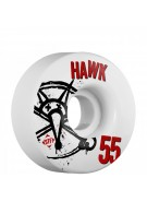 Bones STF Pro Hawk Numbers - 55mm - White - Skateboard Wheels
