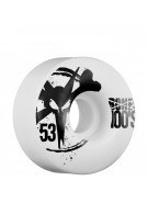 Bones O.G. 100's - 53mm - White - Skateboard Wheels
