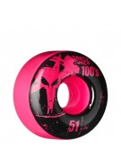 Bones O.G. Formula 100 - 51mm - Pink - Skateboard Wheels