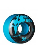 Bones O.G. Formula 100 - 54mm - Blue - Skateboard Wheels