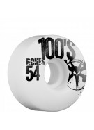 Bones 100's - 54mm - White - Skateboard Wheels