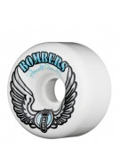 Powell Peralta Pool Forumula Bowl Bomber - 60mm - White -  Skateboard Wheels