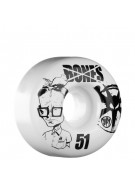 Bones Skate Park Formula Twerp - 51mm - White - Skateboard Wheels