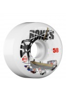 Bones DTF Sweeper - 58mm - White - Skateboard Wheels
