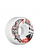 Bones Street Tech Formula Dead Heads - 50mm - White - Skateboard Wheels