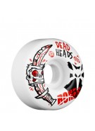 Bones Street Tech Formula Dead Heads - 52mm - White - Skateboard Wheels
