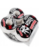 Bones STF New Ground w/ Free DVD - 54mm - White - Skateboard Wheels
