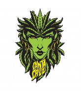 Santa Cruz Weed Goddess Decal 6in - Sticker