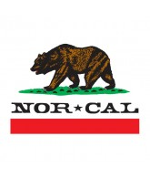 Nor Cal Republic 5in - White - Sticker