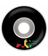 Enjoi Rasta Panda Wheel - Black - 52mm - Skateboard Wheels