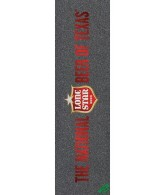 Mob PBC Lonestar Beer Of Texas Grip Tape 9in x 33in  - 1 Sheet - Skateboard Griptape