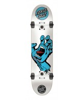 Santa Cruz Screaming Hand LTD Powerply - 7.5in x 31in - White - Complete Skateboard