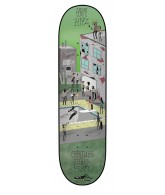 Creature Hitz Shred Party Powerply - 31.7in x 8.26in - Green - Skateboard Deck