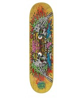 Santa Cruz Facial II Powerply - 31.7in x 7.8in - Yellow - Skateboard Deck