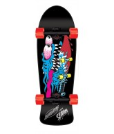 Santa Cruz Slasher Reissue Cruzer - 10.1in x 31.13in - Black/Blue - Complete Skateboard