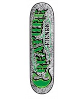 Creature Mirrorz XS Powerply - 27.6in x 7.4in - Silver - Skateboard Deck