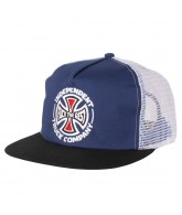 Independent TC FTR Trucker Mesh Hat - One Size Fits All - Blue/Black/White