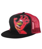 Santa Cruz Screaming Hand Trucker Mesh Hat - One Size Fits All - Black/Red