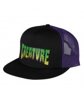 Creature Logo Trucker Mesh Hat - Black/Purple