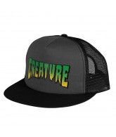 Creature Logo Trucker Mesh Hat - Grey/Black