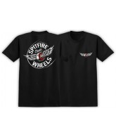 Spitfire Fly Classic S/S - Black/White/Red - Men's T-Shirt