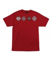 Independent 4 Of A Kind - Red - Men's T-Shirt