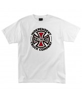 Independent FTR TC Regular S/S - White - Mens T-Shirt