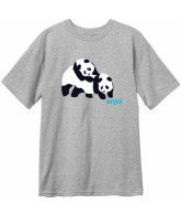 Enjoi Piggyback Pandas S/S Tee - Athletic Heather - Mens T-Shirt