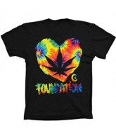 Foundation F-Ink Heart Tye Dye - Black - Men's T-Shirt
