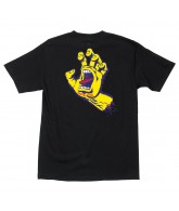 Santa Cruz Screaming Hand Regular S/S - Black w/Yellow - Mens T-Shirt