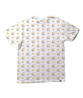 DC KB Skull Repeat - Men's T-Shirt - White / Orange