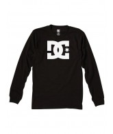 DC Star Long Sleeve - Black/White - Men's T-Shirt