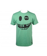 Almost Smiley Face S/S Tee - Green Heather - Mens T-Shirt
