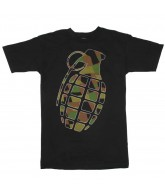 Grenade Time Bomb Camo - Black T-Shirt