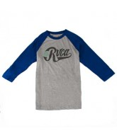 RVCA - RVCA Bombers - Men's T-Shirts - Gray Heather / Royal