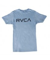 RVCA - Big RVCA - Men's T-Shirts - Light Blue / Black