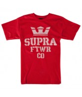 Supra Distortion - Red T-Shirt