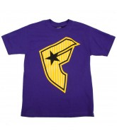 Famous Stars and Stripes Classick Stripe - Purple / Yellow - Men's T-Shirt