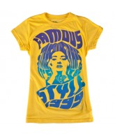 Famous Stars and Stripes Callas - Yellow - Girls T-Shirt - Large