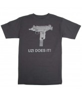 Skate Mental Uzi Does It - Charcoal - Men's T-Shirt