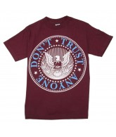 DTA New World Crest - Burgundy / Cyan / White - Men's T-Shirt - X Large