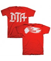 DTA Brush Stroke - Red / White - Men's T-Shirt